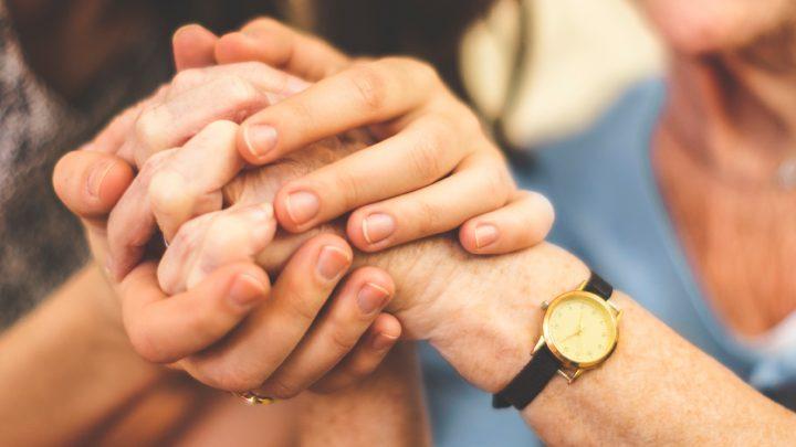 Bunch of hands being held
